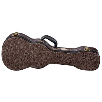 Luna Guitars Hard Case Tooled Leather Baritone. Estuche para Ukelele