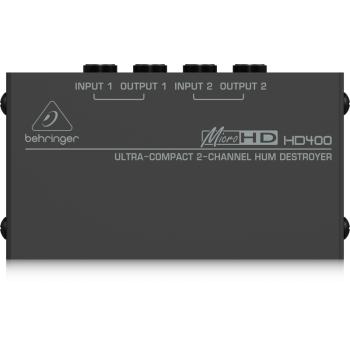 BEHRINGER HD400P Caja DI Eliminador de Zumbidos