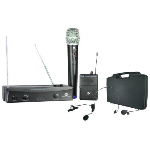ACOUSTIC CONTROL MU-1004 SET Microfono inalambrico doble 4 Frecuencias