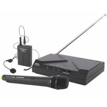 Proel WM101 Kit Microfono Inalambrico de diadema y Mano