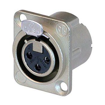 Neutrik  NC3 FD-LX Conector XLR de chasis de 3 pines hembra NC3FD-LX