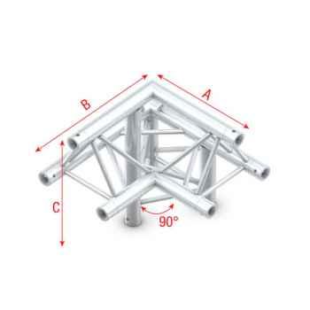 Showtec Corner 90 down right apex up Esquina Triangular 3 Direcciones GT30010