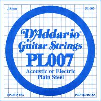 D´addario PL007 Cuerda Suelta para Guitarra Eléctrica y Acústica