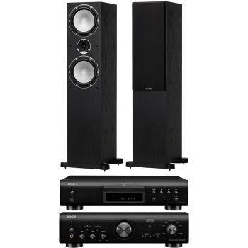 Denon PMA-800AE Bk+Denon DCD-800 AE Bk+Tannoy Mercury 7.4 Black Oack Conjunto Hifi