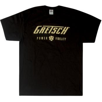 Gretsch Power & Fidelity T-Shirt Black Talla L