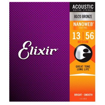 Elixir Nanoweb 11102 Medium Acoustic 13-56