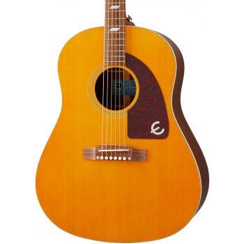 Epiphone Masterbilt Texan Antique Natural Aged Gloss Guitarra Electro/Acústica