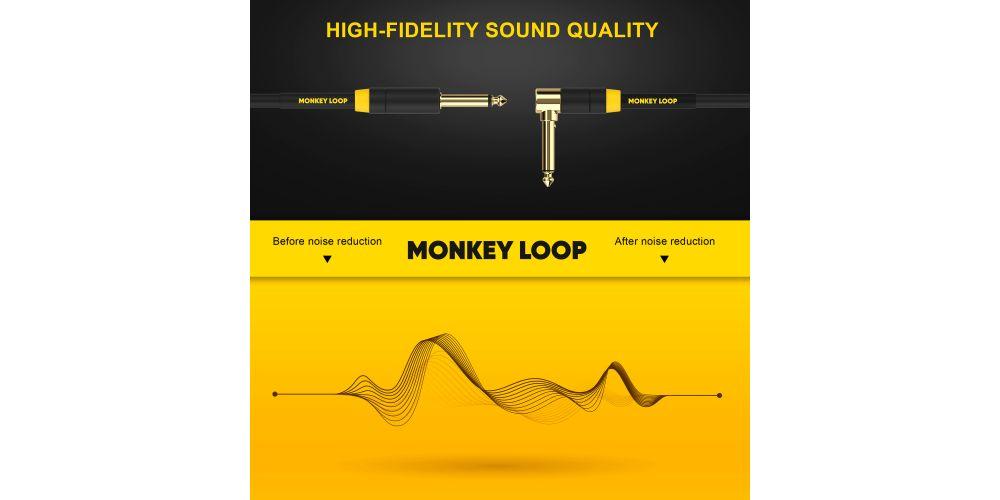 monkey loop pro stage silent cable jack mono jack acodado noise reduction
