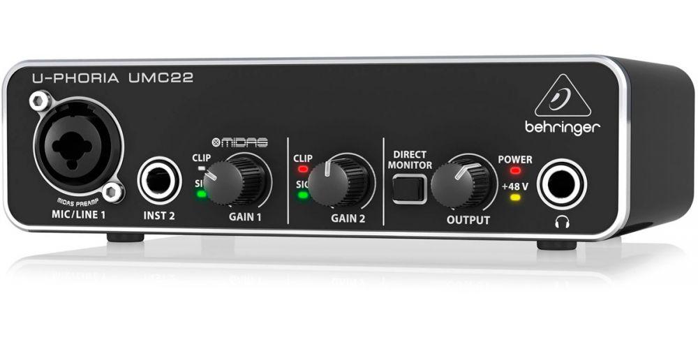 umc 22 interface audio