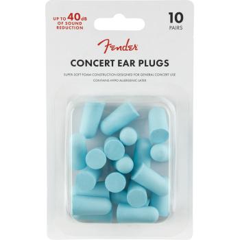 Fender Concert Ear Plugs Daphne Blue Set 10 Unidades