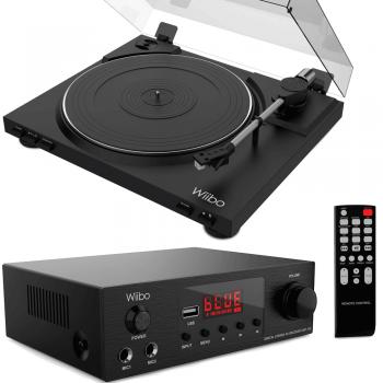 Equipo HiFi Wiibo. Amplificador Bluetooth AMP-100 + Giradiscos LYRA 100 con Capsula Audio Technica