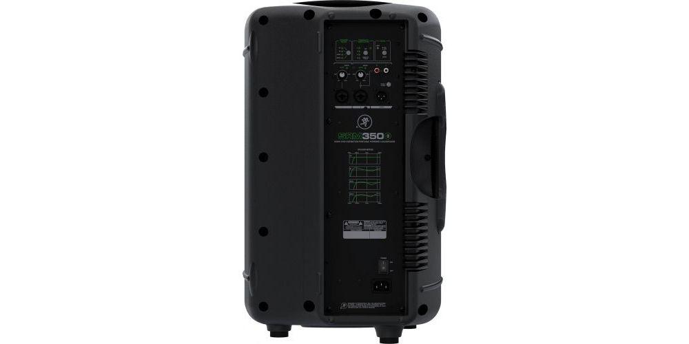 mackie srm350v3 altavoz amplificado panel trasero conexiones