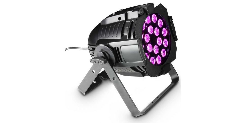 CAMEO Studio PAR 64 CAN RGBA Q 8W Foco PAR LED de cuatro colores