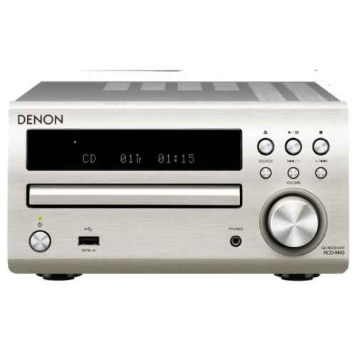 DENON DM-40 Silver  Mini Cadena HiFi  Altavoces Cherry