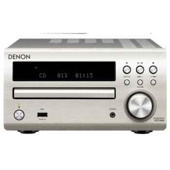 DENON DM-40 Silver  Mini Cadena HiFi  Altavoces Cherry