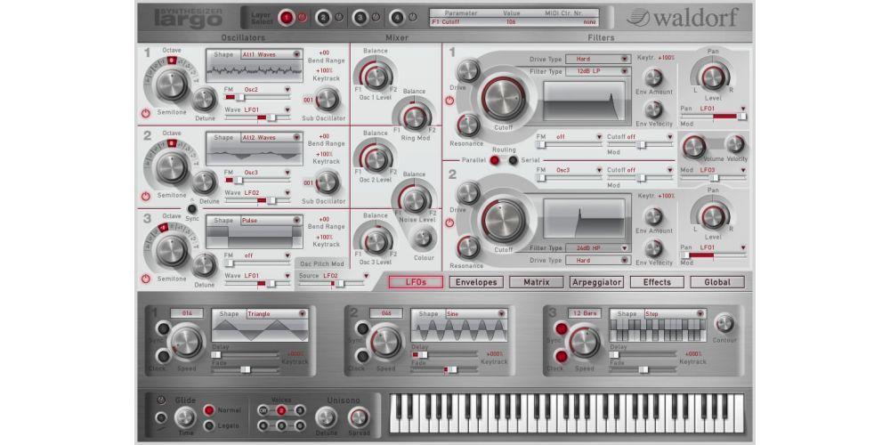 Waldorf largo Sintetizador de Software