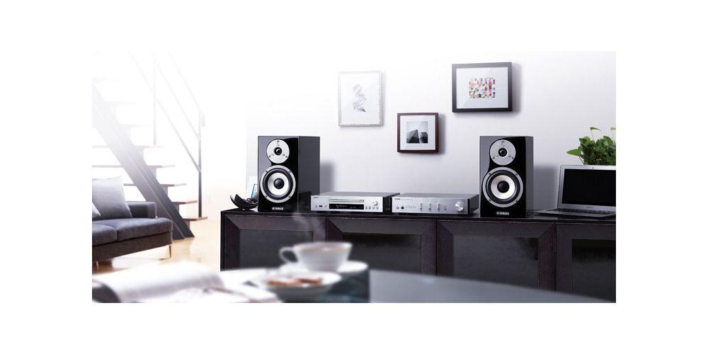 yamaha mcr n870 silver equipo musiccast montado en casa