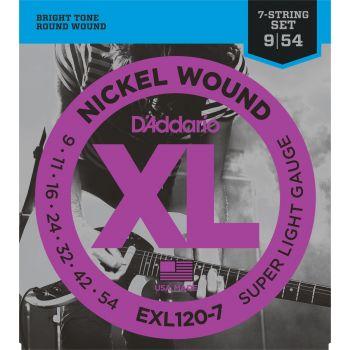 D Addario EXL-120-7 Cuerda Guitarra Eléctrica