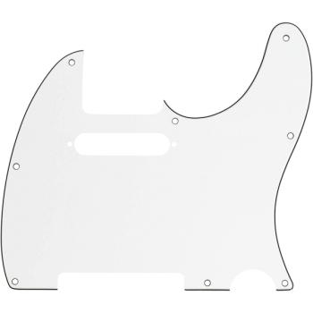 Fender Golpeador Telecaster 8 Agujeros de montaje Parchment