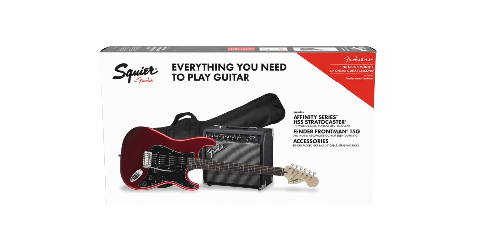 fender affinity stratocaster hss pack candy apple red pack