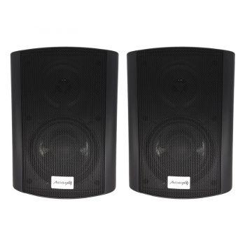 Audibax PR-52 BLACK Pareja Altavoces 100W Stereo con Soporte