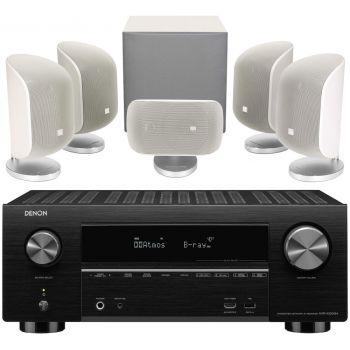 DENON AVR-X3500+BW MT50 White Conjunto Home Cinema