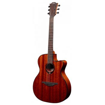 LAG T90ACE Guitarra Electroacústica Auditoriun Cutaway Caoba