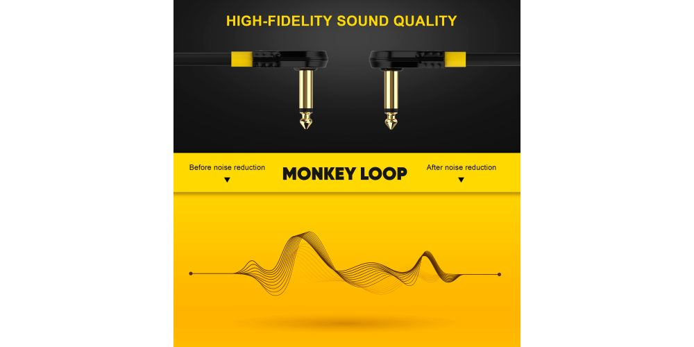monkey loop pro link pedal guitar patch cable 5cm jack acodado a jack acodado