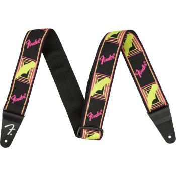 Fender Neon Monogrammed Yellow-Pink. Correa para Guitarra
