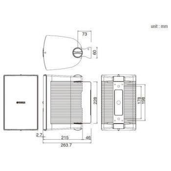 Yamaha NS-AW 294 Negro Altavoces Exterior PAREJA
