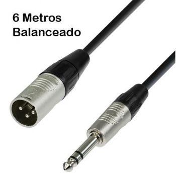 Cable Jack Macho 6,35 a XLR Macho Balanceado 6m Audibax
