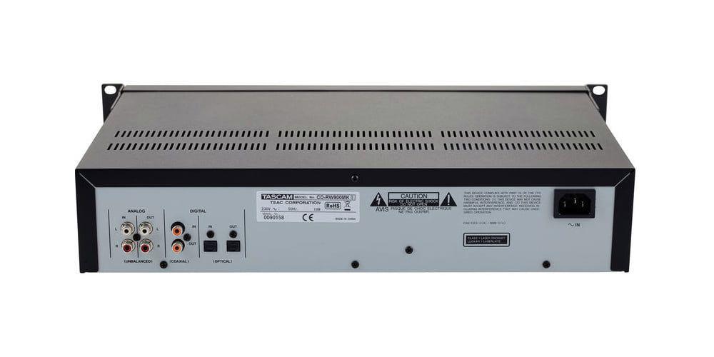trasera Tascam CD RW900MK2