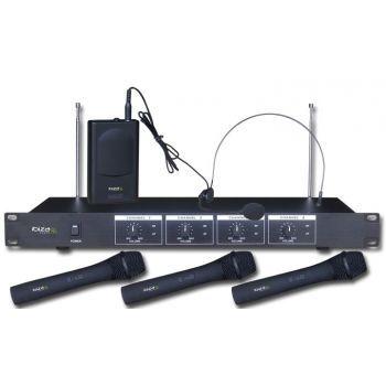 IBIZA SOUND VHF4 Microfono Inalambrico 4 Micros