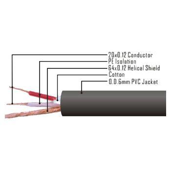 Cable XLR macho - XLR hembra 6 metros ROJO , XLR6M-RED RF:162