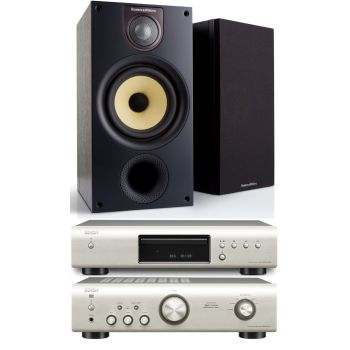 DENON PMA-520-SI+DCD520-SI+BW686-BK