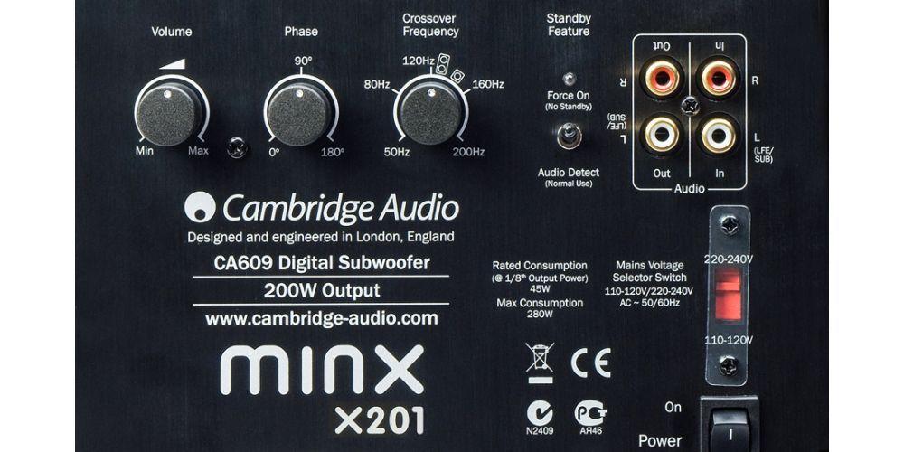 cambridge minx x201 black conexiones