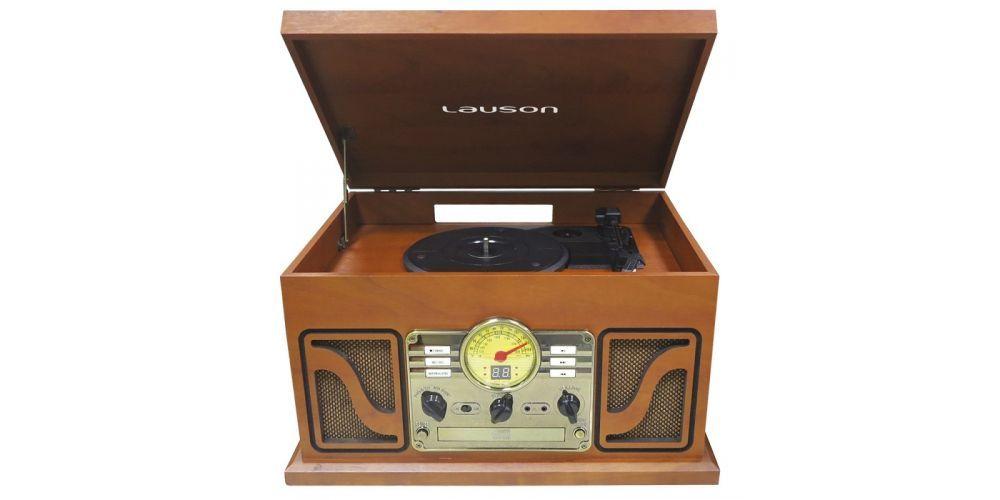 lauson tocadiscos con bluetooth funcion encoding cdmp3 radio amfm cl606 retro