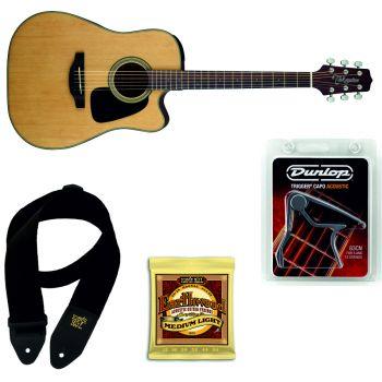 TAKAMINE GD10CE-NS Guitarra Electro-Acustica + Juego Cuerdas y Correa Ernie Ball + Cejilla Dunlop Trigger