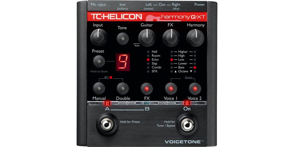tc helicon voicetone harmony g xt pedal efectos vocal