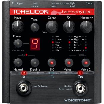 TC Helicon VoiceTone Harmony G XT Procesador de Efectos Vocales -