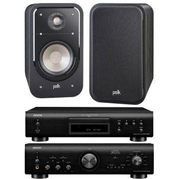 Denon PMA-800AE Black+DCD800+Polk Audio S20E. Sistema 800/S20 Conjunto Sonido