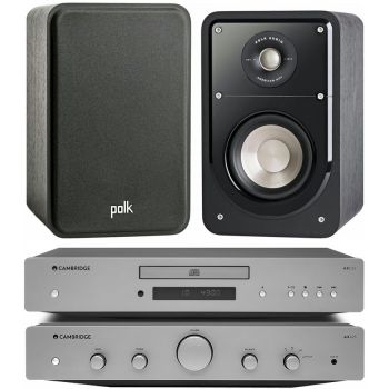 CAMBRIDGE AXA25+AXC25+Polk Audio S15 Bk Conjunto audio