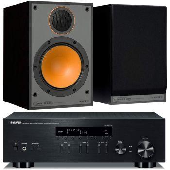 Yamaha RN-303D Black+Monitor Audio Monitor 100 Black  Conjunto Sonido