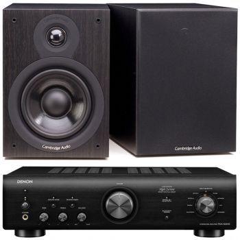 Denon PMA-600 NE Black+Cambridge Audio SX50 BK Conjunto audio