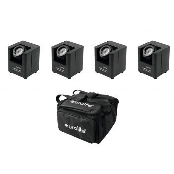 Eurolite Set 4 x AKKU UP-1 + SB-4 Soft Bag