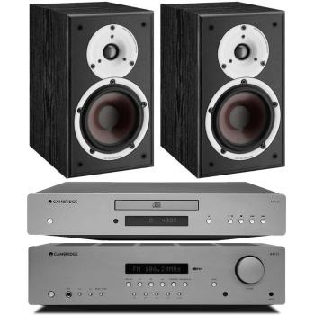 Cambridge Audio AXR85+AXC25+Spektor2 BK Conjunto Audio
