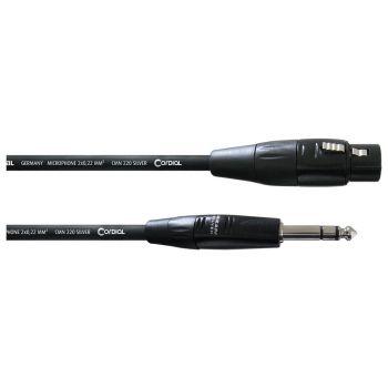 Cordial CIM 0,3 FV Cable Jack Macho y XLR Hembra 0,3 Metros