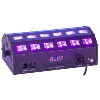 Ibiza Light Proyector Controlado por DMX con LED Blanco y UV 2 en 1 LED-STUV24
