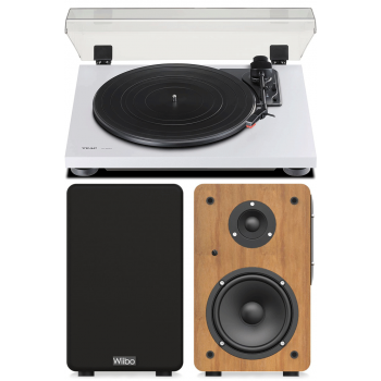 Equipo HiFi TEAC TN-175 White Giradiscos Con Previo Phono+Wiibo Neo 100 Altavoces Activos Bluetooth
