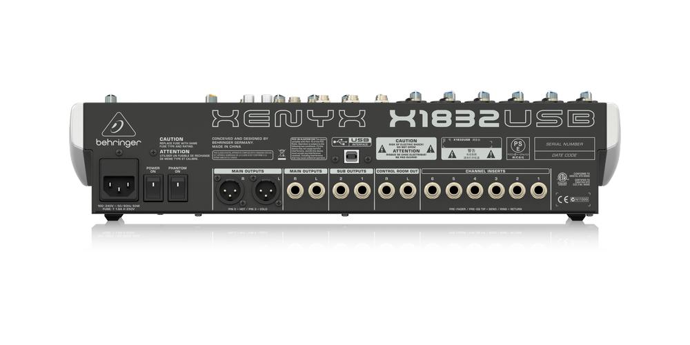 behringer x1832usb xenyx conexiones